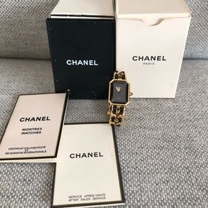 Vintage Chanel Premiere Chain Gold Signature Watch